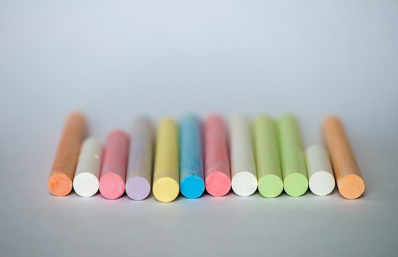 Colorful pieces of Chalk