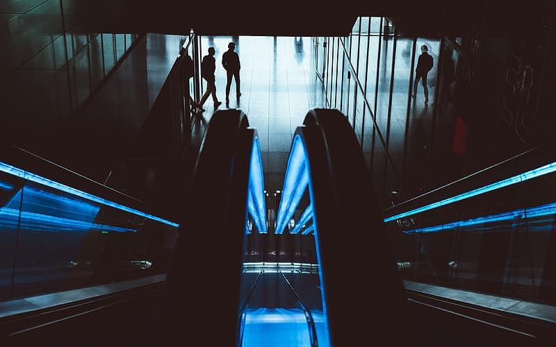 Lighted escalator