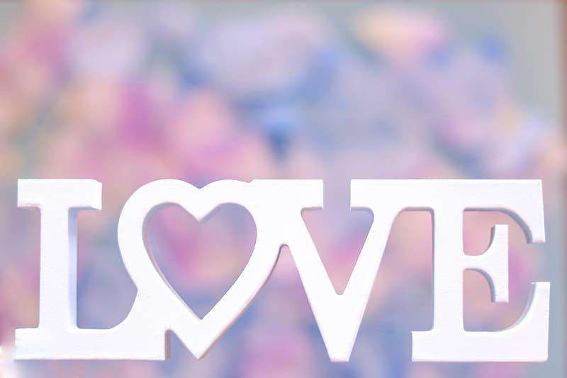 White Love cutout decor