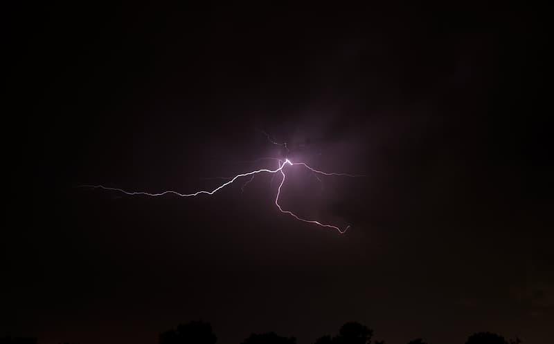 Thunderbolt during night