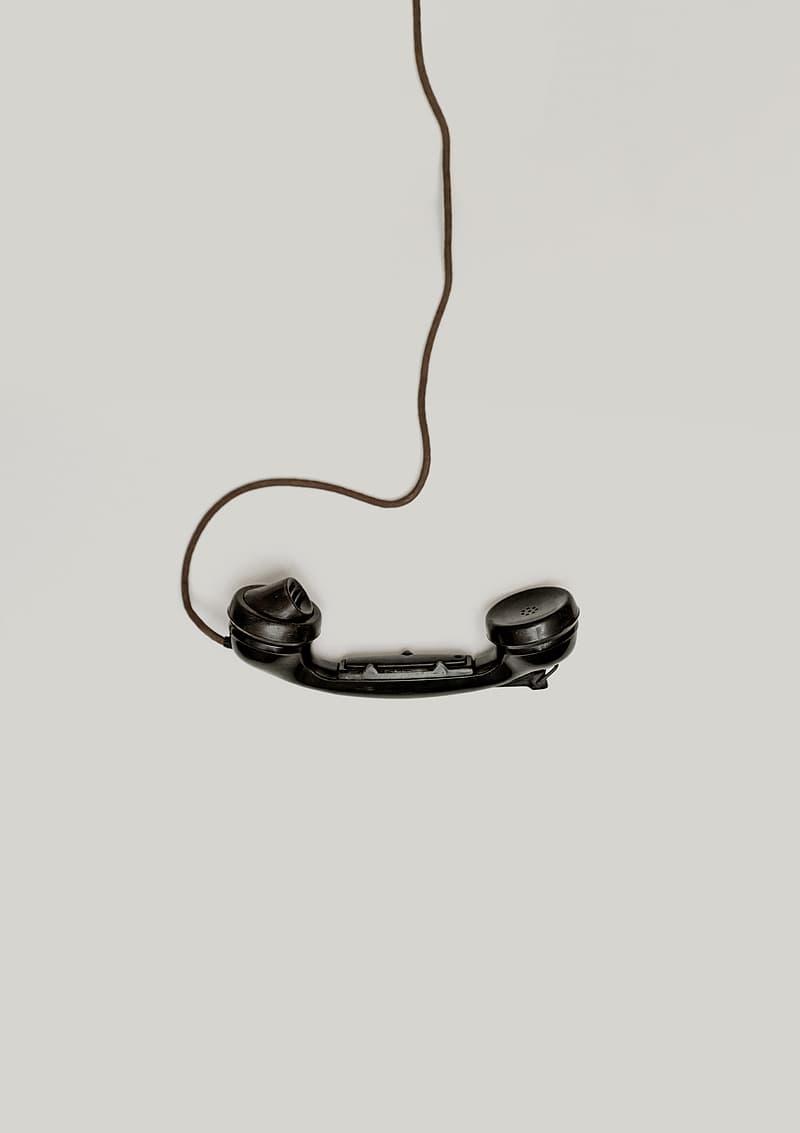 Codded black telephone