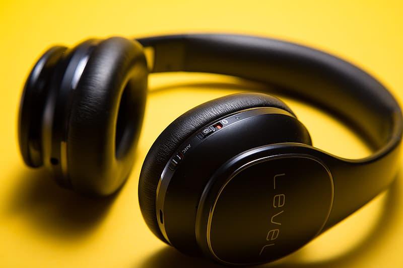 Black Samsung Level wireless headphones
