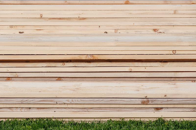 Photo of beige plank lot
